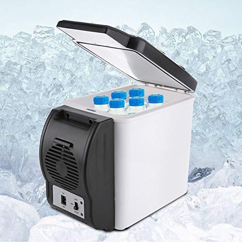 bizofft Mini Nevera, congelador portátil de Ahorro de energía de 12,2 x 6,69 x 10,24 Pulgadas, 6 l, hogar Duradero de ABS para automóvil, camión