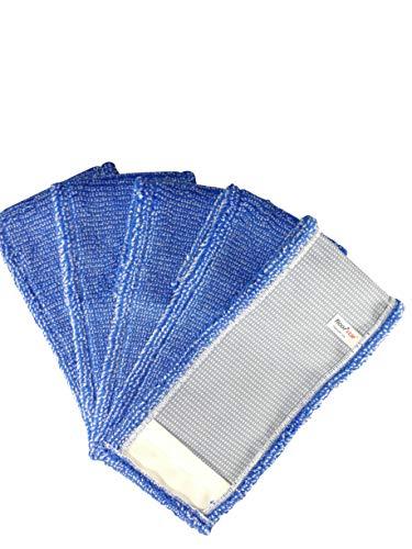 1a Profiline MTX50 Microfasermopp Thenufil Pix blau 50cm (5 Stück) Wischmopp Mopp für alle Fußbodenbeläge Wischbezug für Bodenwischer Ersatzbezug Klapphalter Mopphalter Mikrofaser Moppbezug Bezug