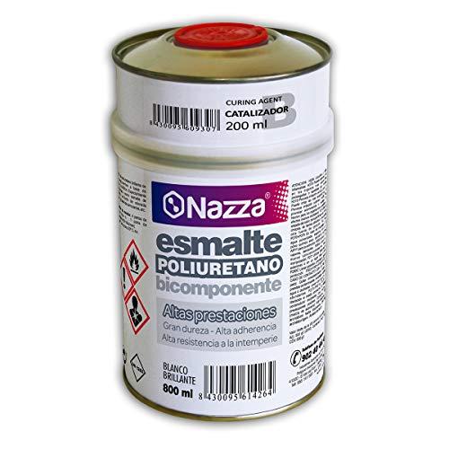 Esmalte de Poliuretano Blanco de Altas Prestaciones   Bicomponente   Para Bañeras y Sanitarios   1 Litro (a+b)
