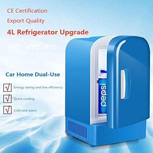 XTBB Auto Mini Kühlschrank Gefrierschrank Mini 12V Auto Camping Kleiner Kühler & Wärmer Genug Kapazität 4L Kein Bedarf an Kältemittel