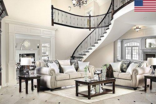 Esofastore Luxurious Look Living Room Furniture 2pc Sofa Set Sofa Loveseat...