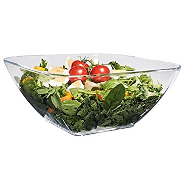 Acrylic Salad Bowl - Lucite Salad Bowl, Clear Square Shaped in Premium Acrylic