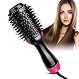 Hair Dryer Brush, Bongtai Hot Air Brush Hair Dryer Styler One Step & Volumizer 3 in 1 Brush Blow Dryer Styler for Rotating Straightening, Curling, Salon Negative Ion Ceramic Blow Dryer Brush