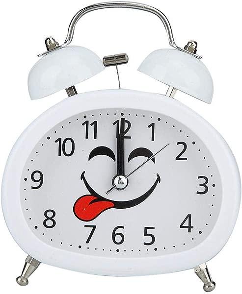 Night Luminous Alarm Clock Double Bell Bedside Clock Black