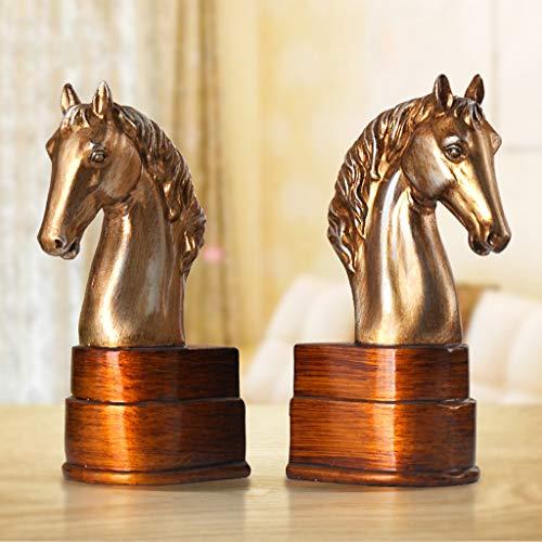 QARYYQ Kreatives Pferdebuch von Bookend Büro Schreibtisch Regal Dekoration Dekoration Basteln Zimmer Dekoration 12,5 x 9 x 22,8 cm Buchständer