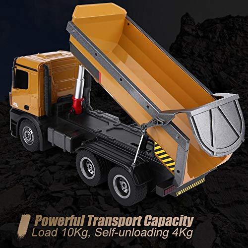 RC Auto kaufen Baufahrzeug Bild 4: Dilwe RC Muldenkipper, HUINA 1573 1/14 Skala 2,4 GHz RCDumping Truck Auto Fernbedienung Engineering Fahrzeug Spielzeug Geschenk für Kinder*