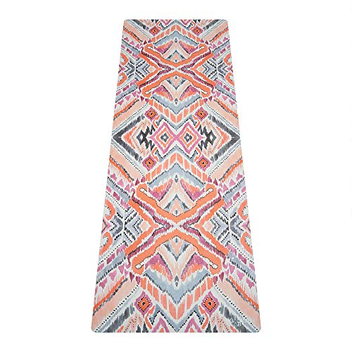 YOGA DESIGN LAB Travel Yoga Mat For Men And Women, 2-in-1 Mat+Towel, Lightweight, Foldable, Eco Luxury, 1.5mm Thick, Includes Carrying...