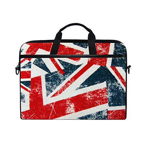 CPYang Laptop Bag Vintage UK Flag Union Jack Computer Laptop Case Notebook Laptop Shoulder Messenger Bag Sleeve for Boys Girls Women Men