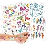 100 tatuajes metálicos para pegar - tatuajes infantiles mandala respetuosos con la piel - diseños chulos - como regalo de cumpleaños o idea de regalo - veganos - testados por el TÜV