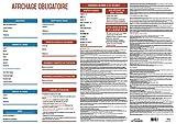 Affichage entreprise obligatoire 2020-100% Complet - Plastifié - Feutre fourni.