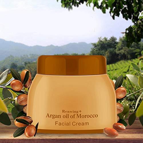 Crema facial visible, impulso de ácido hialurónico de la piel con tierna de argán control de aceite de argán