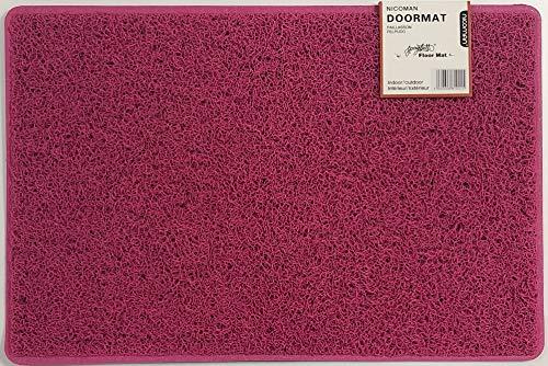 Nicoman Schmutzfänger Barrier Fußmatte schwere Bodenmatte-(Geeignet für Innen- und Schützen Außen), Klein (60x40cm), Rosa