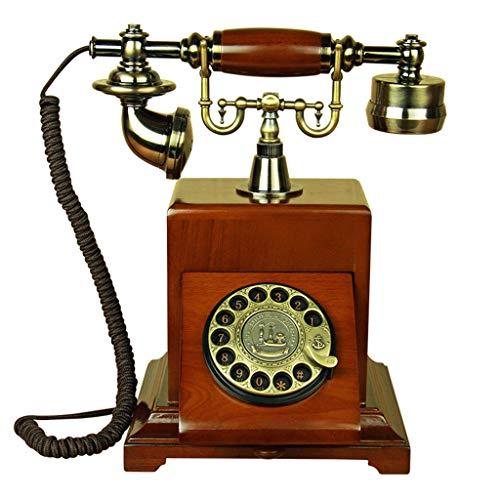 VERDELZ Teléfono Retro Teléfono Antiguo de línea Fija de la Vendimia Placa giratoria clásica Dial Teléfono de rotación para el hogar
