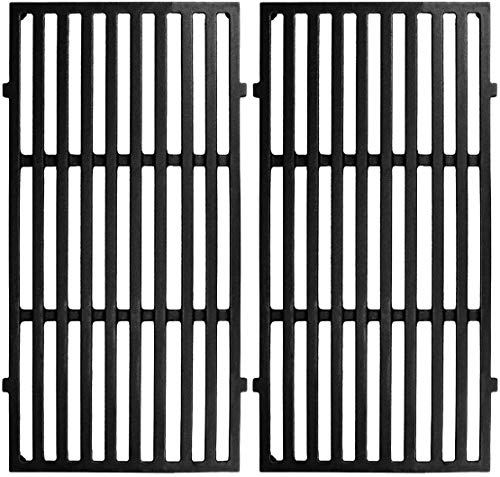 Gloryshine 17.5 Inch Cast Iron Cooking Grates Replacement for Weber Spirit 200,E-210 (2013-2016), E-220, S-210 (2013-2016), S-220 Series Gas Grills 7637 Grates Grids