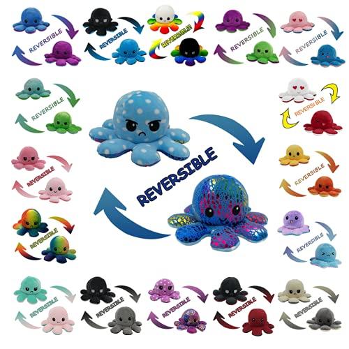 Original Reversible Octopus Plushie, Double-Sided Creative Reversible Plush...