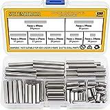 Sutemribor 120 PCS 7 Sizes Dowel Pin Kit, Shelf Support Pin Fasten Elements Assortment Kit...