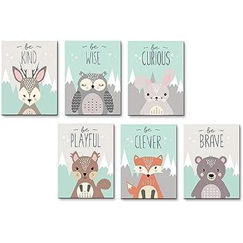 Collection Inspirational Animals 05x07 Inch Print Nursery Decor Woodland Nursery Inspirational Art Children Inspire Design Animals Decor For Kids Kids Decor Motivational Art