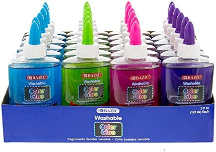 Bazic Nippon regular agency 5 oz 147 Ml Some reservation Washable Color School Di Glue Clear PDQ with