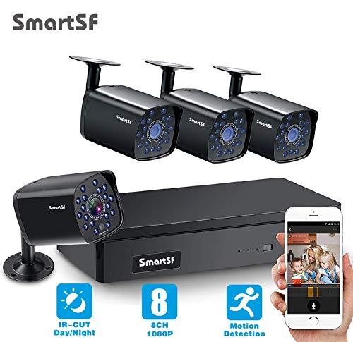 SmartSF CCTV 1.0 MP Kit de videovigilancia, 4CH 1080N HD AHD