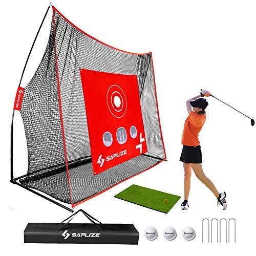 SAPLIZE Golfnetz mit Schlagmatte