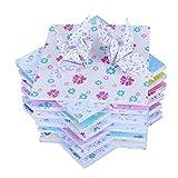 Ogquaton 12 Tipos de Papel de Colores con patrón de 72 Hojas de Papel de Origami Cuadrado, Hecho a Mano, de una Cara, para proyectos artísticos y artesanías, 15 x 15 cm, portátil y útil