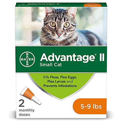 Advantage II 2Dose Flea Treatment and Prevention for Small Cats 59 Pounds