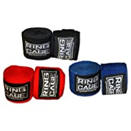 Ring to Cage Boxing and MMA Mexican Stretch Handwraps 180 inches Long - Pack of 3 Pairs