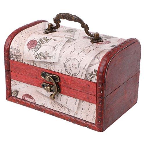 suoryisrty Storage Box 1 Piece Vintage Wooden Storage Box Decorative Handmade Trinket Case Jewelry Organizer