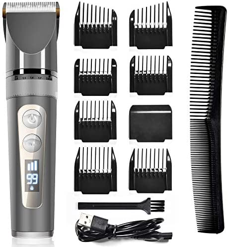 Hair Clippers Professional Hair Clippers for Men Cordless Hair Cutting Kit with Ceramic Blades product image