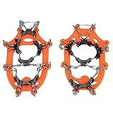 Jadeshay Ice Grips-1Pair 11 Dents Enfants Chaussures Antidérapantes Ice Griffes Griffes Chaîne Extérieure Pince Crampon Neige Grips for Randonnée Neige Et Glace
