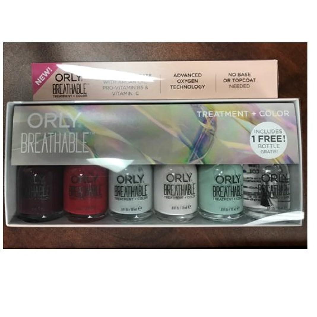 講堂ぼかしクリエイティブOrly Breathable Nail Lacquer - Treatment + Color - 6 Piece Kit - 18ml / 0.6oz Each