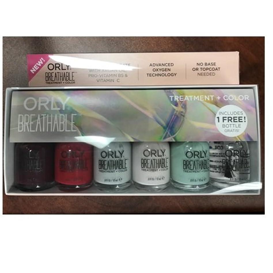 密みがきます交換可能Orly Breathable Nail Lacquer - Treatment + Color - 6 Piece Kit - 18ml / 0.6oz Each