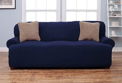 Chair Loveseat Sofa Couch Protect Cover Stretch Slipcover ,Collection Strapless Slipcover, Form Fit, Slip Resistant, Soft, Lightweight Fabric