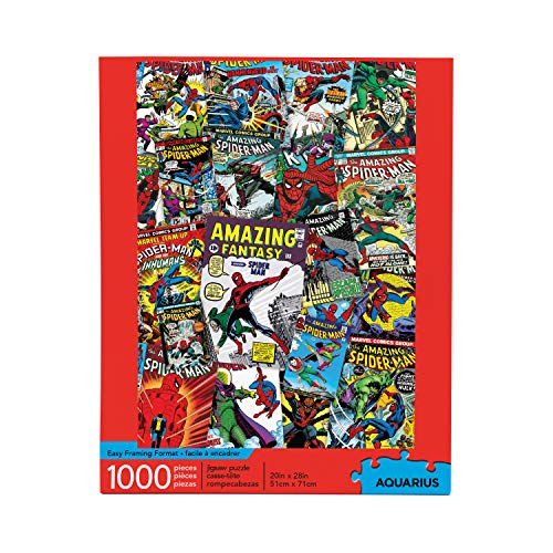 AQUARIUS Marvel Spiderman Puzzle (1000 Piece Jigsaw Puzzle) - Officially Licensed Marvel Merchandise & Collectibles - Glare Free - Precision Fit - Virtually No Puzzle Dust - 20 x 28 Inches