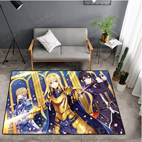 Teppich Lange Anime Bodenmatte Messer Schwert Gott Domäne Teppich Anime Anime Wohnzimmer Umgeben Couchtisch Schlafzimmer Computer Stuhl Kristall Samt In Die Bodenmatte 80 * 200Cn