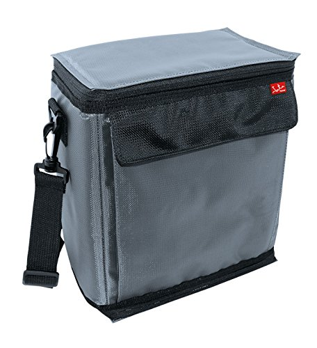 Jata Hogar Kühltasche Kühltasche mit integriertem Gel Kältemittel 25x14x26 cm grau