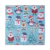 YUnnuopromi 20 tovaglioli stampati con albero di Natale Babbo Natale in pasta di legno usa e getta, 33 x 33 cm, 6 pezzi