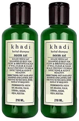 Khadi Natural Herbal Khadi Herbal Neem Sat Shampoo, 420 ml
