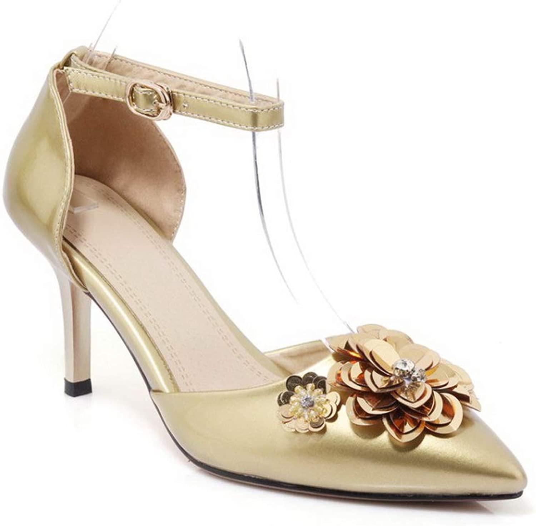 AdeeSu Womens Embroidered Dance-Ballroom Medallion Urethane Pumps shoes SDC05912
