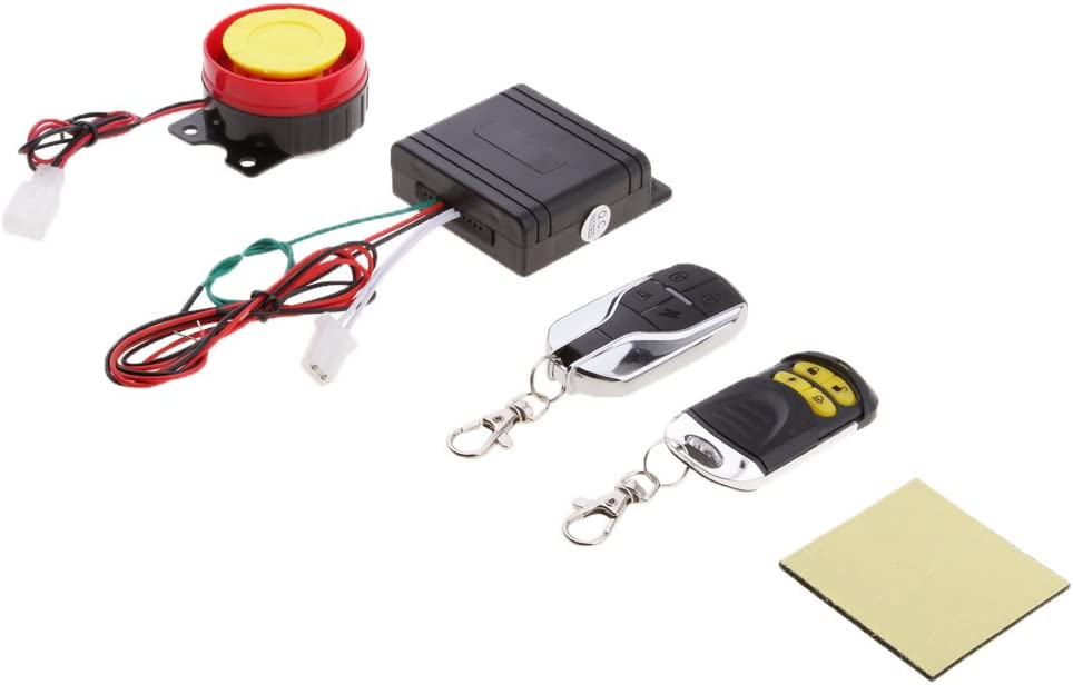 MagiDeal 12V Motorcycle Anti-Theft Security Cheap System Alarm mart Remote