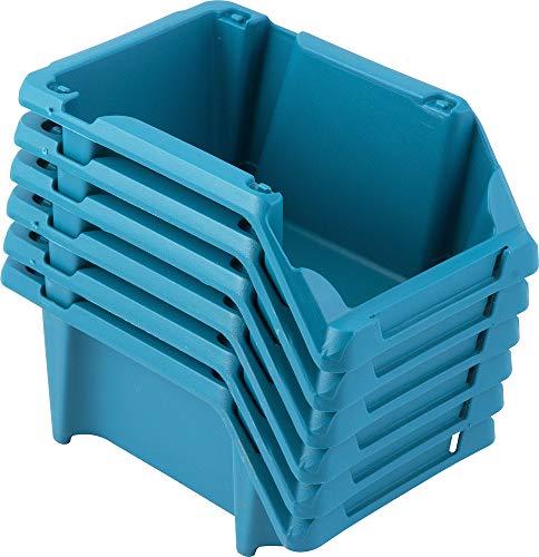 Gaveteiro Plástico, Jogo Com 6 Peças, Modelo Prático, Nº 3, Azul, Vonder Vdo2662 Vonder Azul