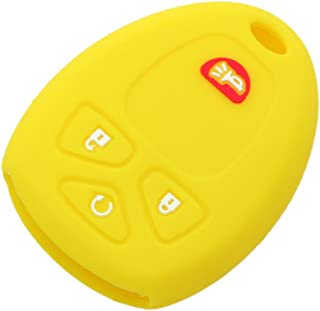 SEGADEN Silicone Cover Protector Case Skin Jacket fit for CHEVROLET BUICK GMC 4 Button Remote Key Fob CV4607 Yellow