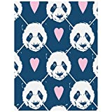 ZZHL 5d Diamond Art Design Greeting Card Valentines Day Panda,Diamond Painting Kits, Diamond Paint by Numbers, Diamond Painting Pictures Arts Craft for Home Wall Decor