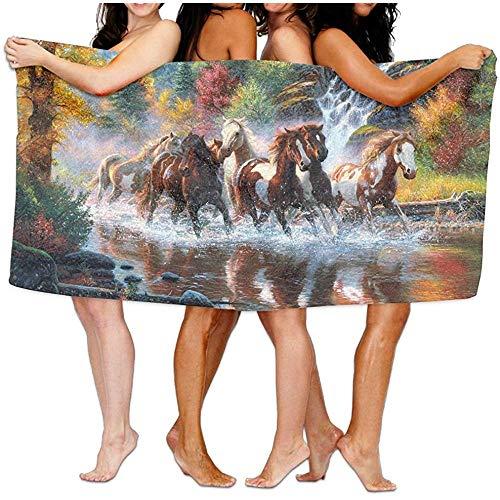 Abstract Oil Paintings Horse Toalla de baño Hotel & SPA Toalla Absorbente Extra 80x130cm / 32x52inch para Playa y baño