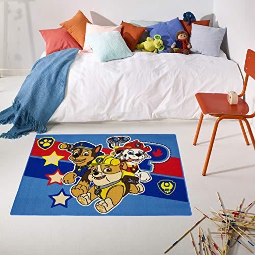 Carpet Studio PAW Patrol Kinderteppich 95x133cm, Spielteppich für Schlafzimmer, Kinderzimmer & Spielzimmer, Waschbar, Einfach zu Säubern, rutschfest - Symbols