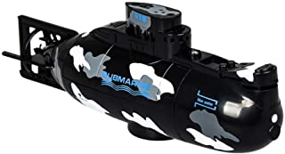 Toyvian Mini RC Submarine Remote Control Boat Ship Military Model 3.7V Electronic Water Toy Waterproof Diving for Swimming...