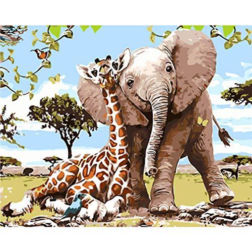 Pintura Digital - Pintura De Bricolaje Por Números Para Adultos Y Niños Pintura Al Óleo Kits De Regalo Preimpresos Arte De Lienzo Decoración Del Hogar -16 * 20 Pulga A
