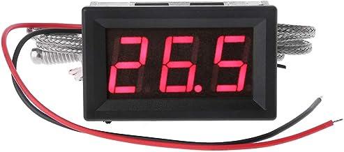 JENOR Termómetro K-Type M6 sonda termopar sensor industrial de alta temperatura sensor integrado medidor probador digital LED pantalla 0,5 m cable