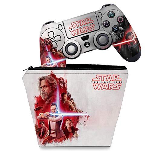 Capa Case e Skin Adesivo PS4 Controle - Star Wars The Last Jedi