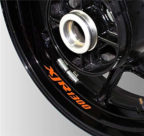 Luyangyund Rueda de 8X Logotipo Reflectante Personalizado Decorativo Neumático Interno Neumático de calcomanía Impermeable para Yamaha XJR1300 (Color : K LQT XJR1300 05)